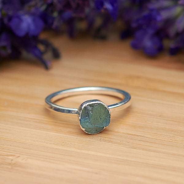 Silver Labradorite Infinity Stacking Ring