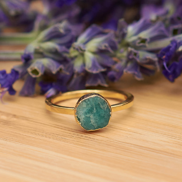 Gold Amazonite Infinity Stacking Ring