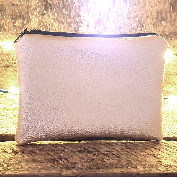 Gold faux leather clutch Bag