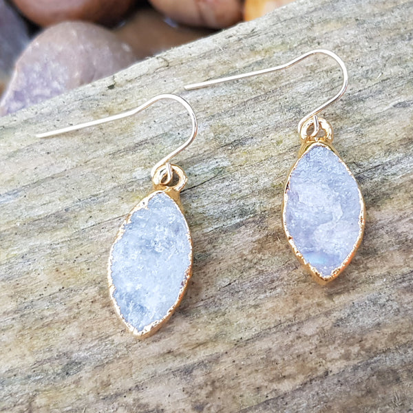 Gold plate Moonstone earrings