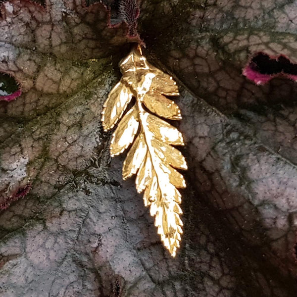 Fern Gold Leaf Pendant