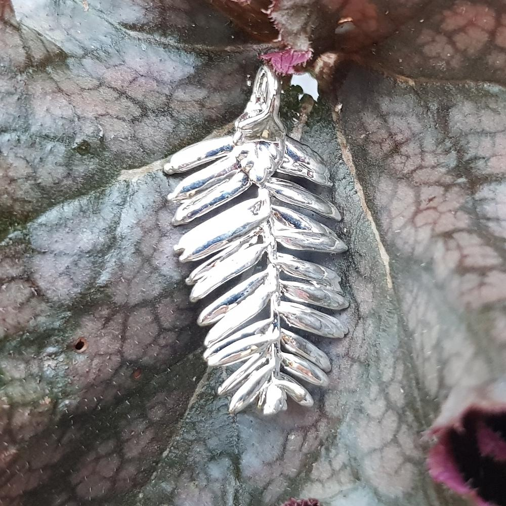 Pine Needle Silver Plate Leaf