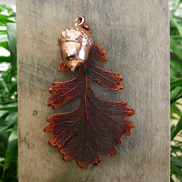 Acorn Rose Gold Plate and Oak Autumn Copper Leaf Duo