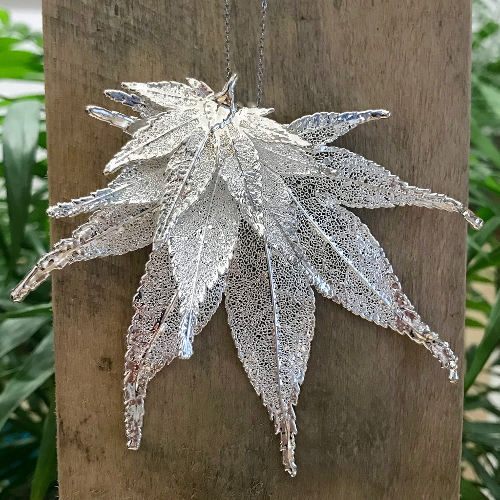 Japanese Maple Silver Plate Leaf Trio