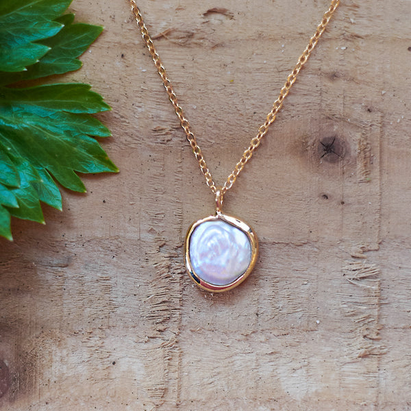 Gold Plated Pearl Pendant
