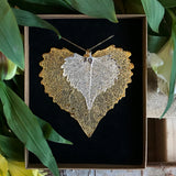 Cottonwood Silver Plate and Gold Plate Leaf Duo