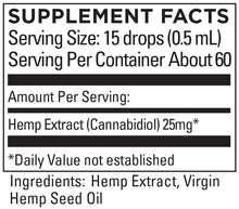 Load image into Gallery viewer, KR Broad Spectrum Hemp Extract 25+mg/serving 1 OZ (30mL)