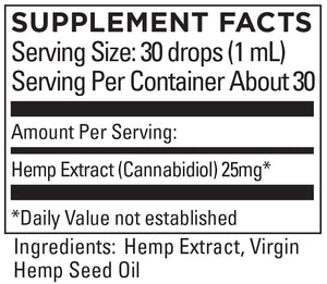 KR Broad Spectrum Hemp Extract 9+mg/serving 1 FL OZ (30mL)