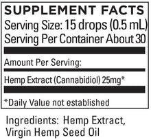 Load image into Gallery viewer, KR Broad Spectrum Hemp Extract 25+mg/serving .5 OZ (15mL)