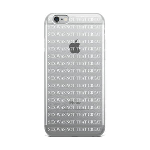 SEX iPhone Case white