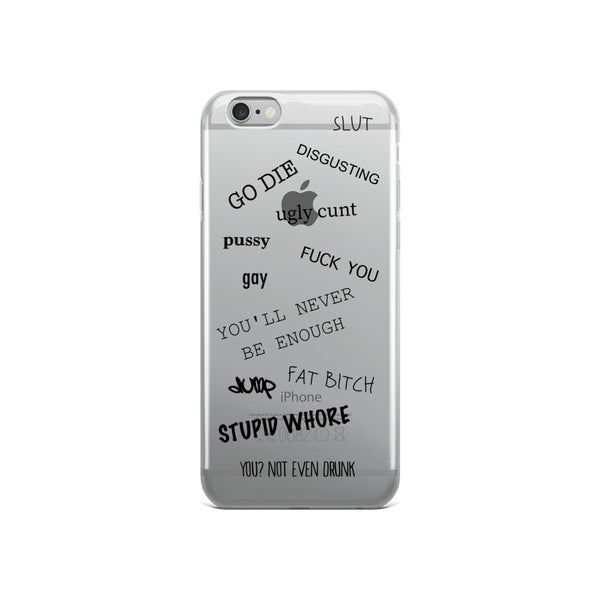 I KNOW iPhone Case black