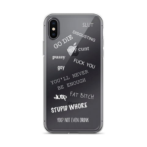 I KNOW iPhone Case white