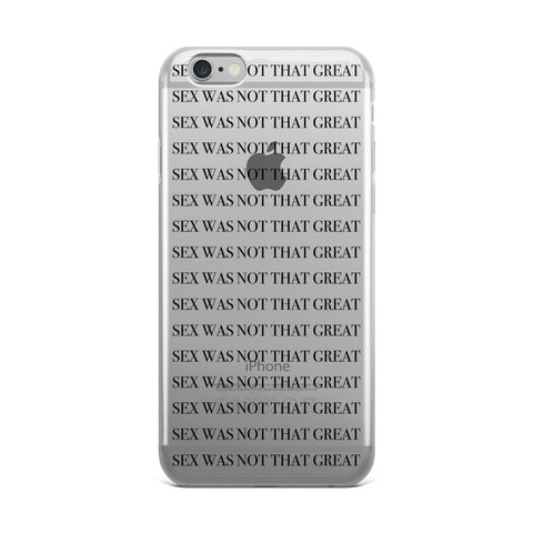 SEX iPhone Case black