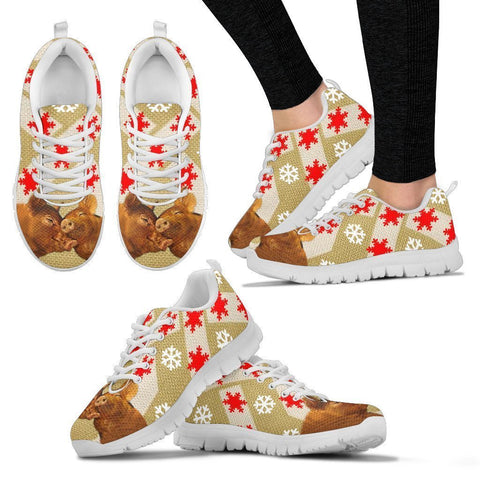 Duroc pig Print Christmas Running Shoes For Women-Free Shipping-Paww-Printz-Merchandise