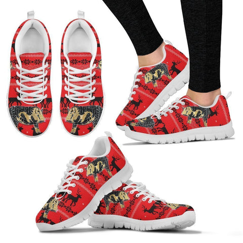 Ossabaw Island Pig Print Christmas Running Shoes For Women- Free Shipping-Paww-Printz-Merchandise