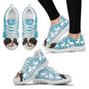 Japanese Chin Christmas Running Shoes For Women- Free Shipping-Paww-Printz-Merchandise