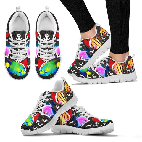 Lovely AngelFish  Print Christmas Running Shoes For Women- Free Shipping-Paww-Printz-Merchandise