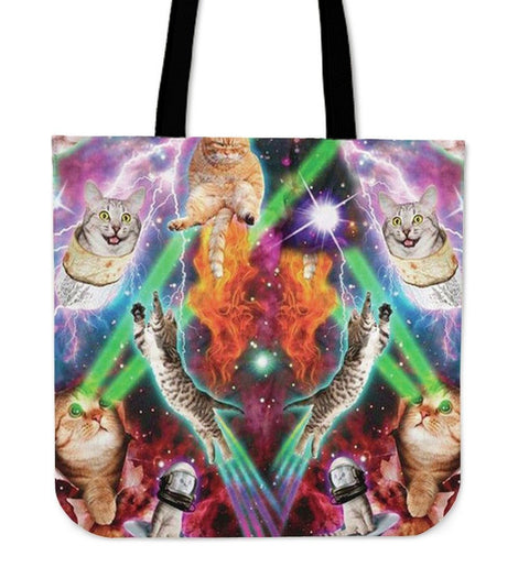 Super Cats-Tote Bag-Free Shipping-Paww-Printz-Merchandise