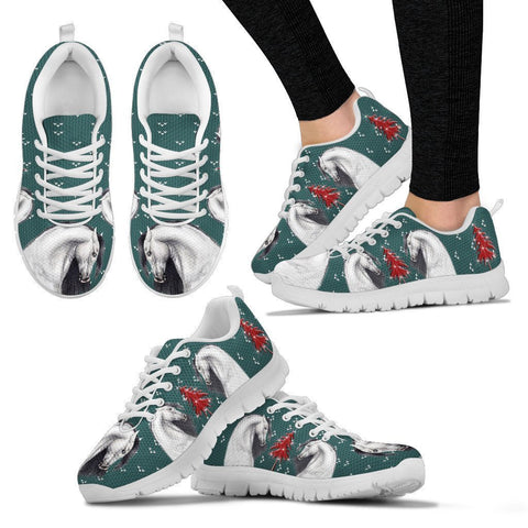 Andalusian horse Print Christmas Running Shoes For Women-Free Shipping-Paww-Printz-Merchandise