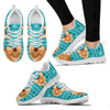 Abyssinian Cat Christmas Running Shoes For Women- Free Shipping-Paww-Printz-Merchandise