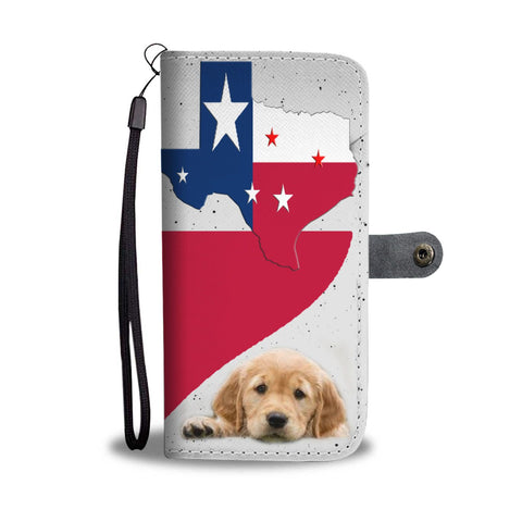Amazing Golden Retriever heart Print Wallet Case-Free Shipping-TX State