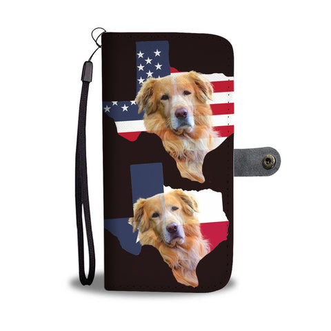 Amazing Golden Retriever Dog On Map Print Wallet Case-Free Shipping-Tx State