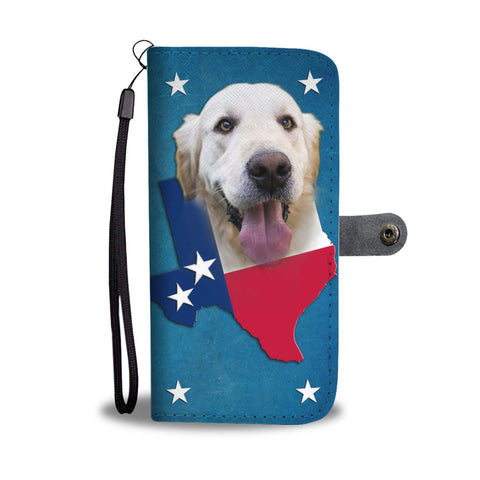 Lovely Golden Retriever Print Wallet Case- Free Shipping-TX State