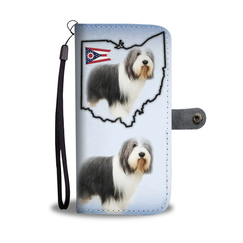 Bearded Collie Print Wallet Case-Free Shipping-OH State