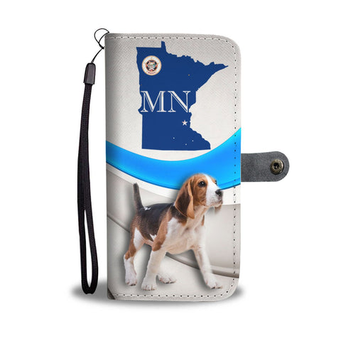 Cute Beagle Print Wallet Case-Free Shipping-MN State