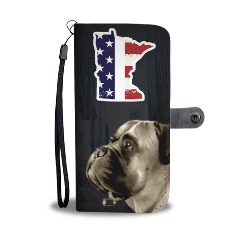 English Mastiff Print Wallet Case-Free Shipping-MN State