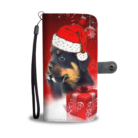 Rottweiler Christmas Print Wallet Case-Free Shipping