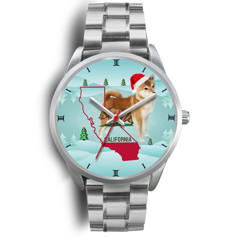 Shiba Inu Dog California Christmas Special Wrist Watch-Free Shipping