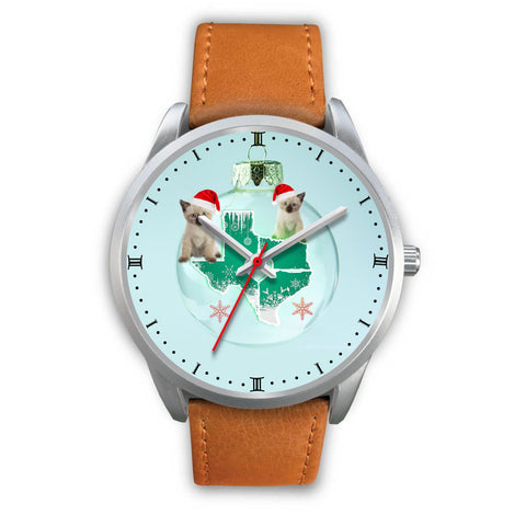 Siamese cat Texas Christmas Special Wrist Watch-Free Shipping
