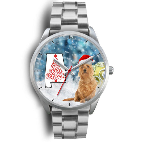 Australian Terrier On Christmas Alabama Wrist Watch-Free Shipping