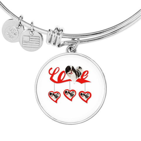 Japanese Chin Print Bangle-Free Shipping