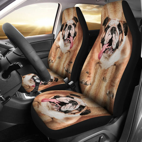 BullDog Print Car Seat Covers-Free Shipping