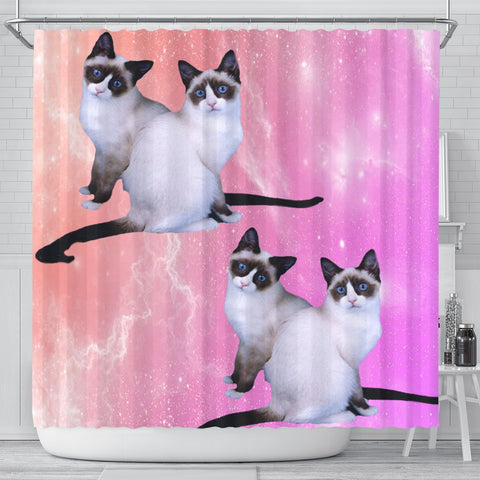 Snowshoe Cat Print Shower Curtains-Free Shipping