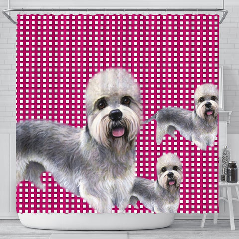 Dandie Dinmont Terrier Print Shower Curtain-Free Shipping