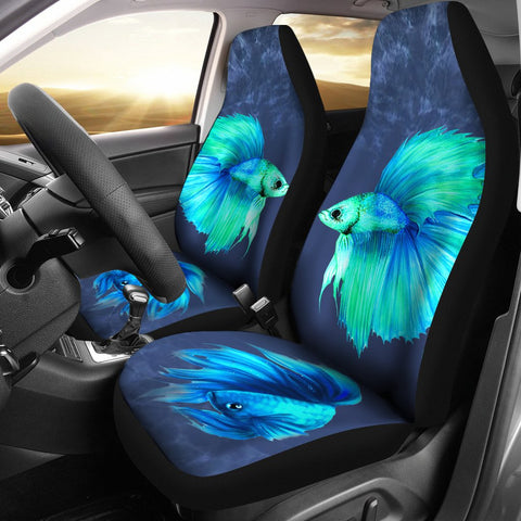 Siamese Fighting Fish (Betta Fish) Print Car Seat Covers-Free Shipping