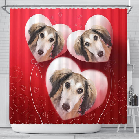 Saluki Dog Print Shower Curtain-Free Shipping