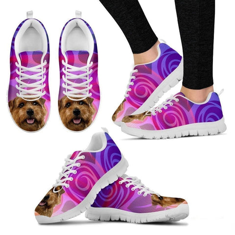 Norfolk Terrier Dog Running Shoes For Women-Free Shipping-Paww-Printz-Merchandise