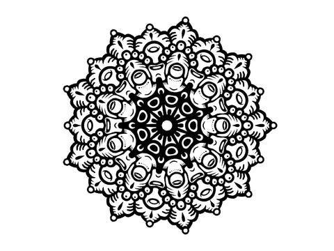 Barnacle Flower mandala design