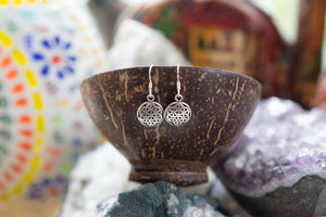 Flower of Life- sterling silver earrings jewelry Tantilly