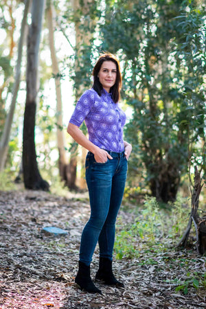 Riley shirt - Purple Retro Happiness shirt Tantilly
