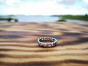 silver ring- the heart circle jewelry Tantilly