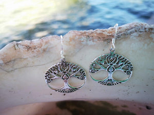 Big Tree of life mix roots - sterling silver earrings jewelry Tantilly