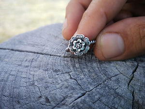 Rose Flower - silver ring jewelry Tantilly