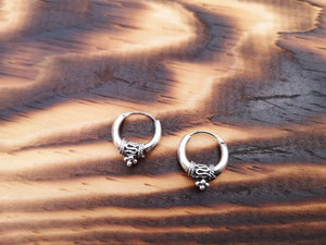 Shelly - Tibetian earring sterling silver jewelry Tantilly