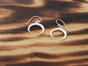 Moon shine- sterling silver earrings jewelry Tantilly