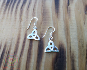 Endless Tibetan knot- sterling silver earrings jewelry Tantilly
